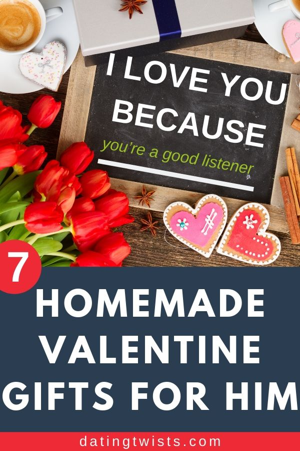 Need some inspiration for Valentine's Day gifts for your man? Here are 7 unique homemade valentine gifts for him. #valentinesday #lovegifts ##gifts #valentinegifts #giftsforhim
