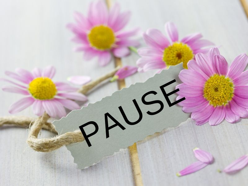 Pause card used to interrupt a fight